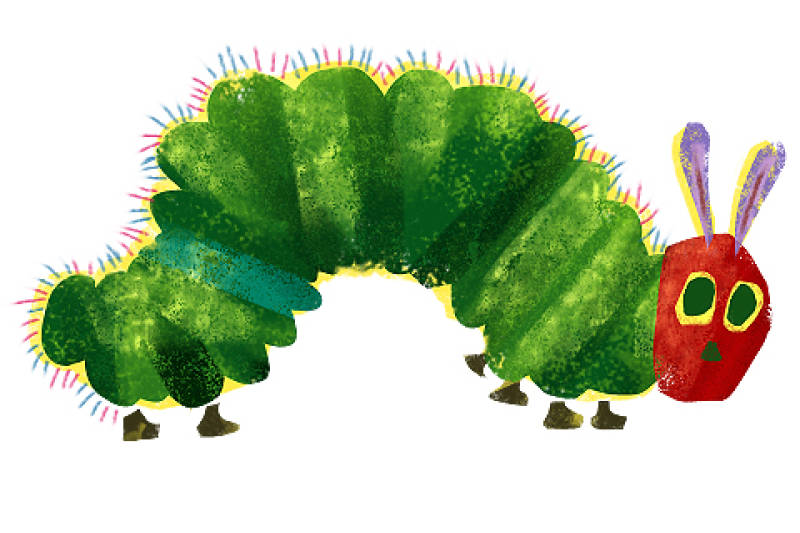 the hunger of the caterpillar the toast rh the toast net Eric Carle Seal Eric Carle Seal