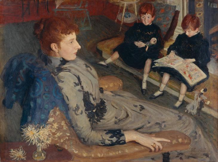 Mrs Cyprian Williams and her Two Little Girls 1891 by Philip Wilson Steer 1860-1942