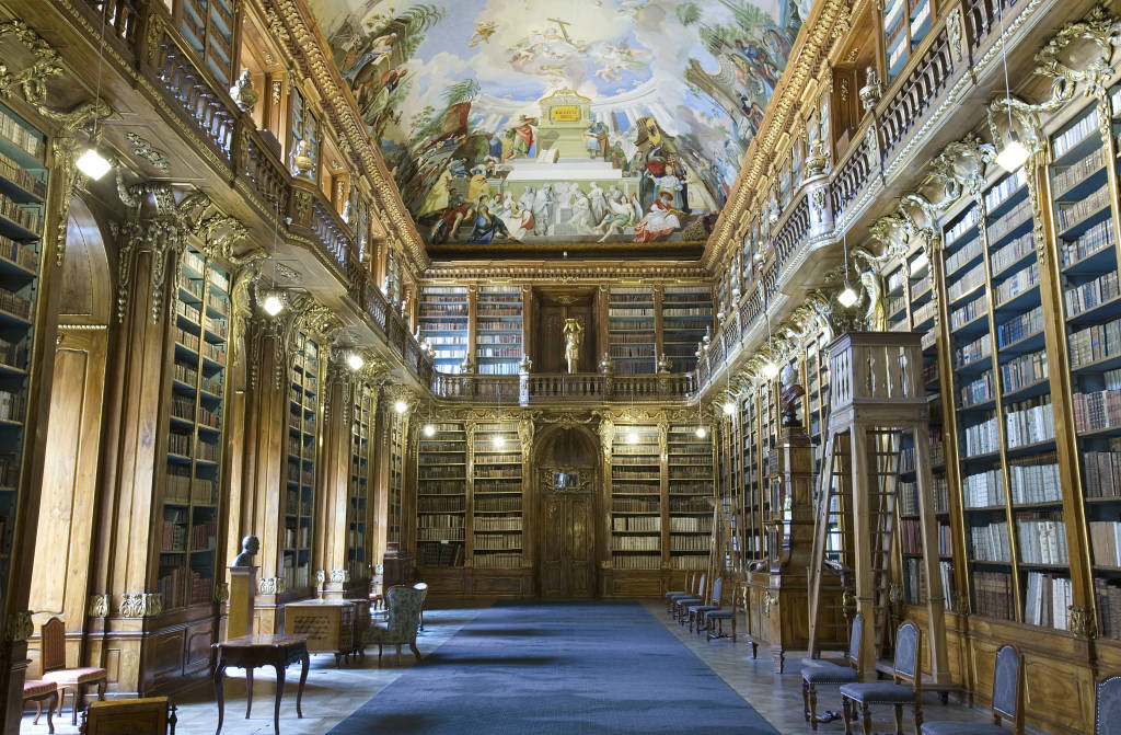 Strahov Library - Original Baroque Cabinets, Prague